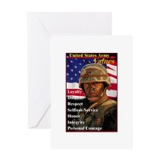 Army Values Greeting Cards