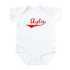 Ayla Vintage (Red) Infant Bodysuit