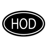 HOD Oval Decal