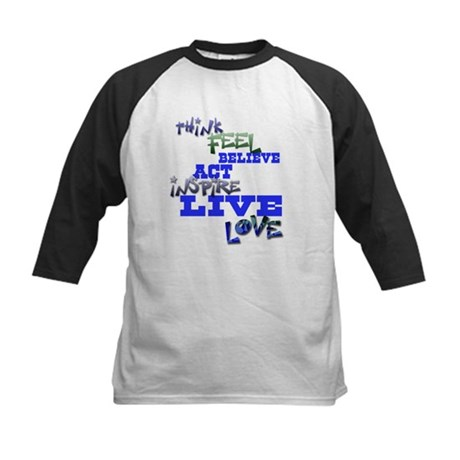 Think, Feel, Believe, Act, In Kids Baseball Jersey
