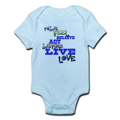 Think, Feel, Believe, Act, In Infant Bodysuit
