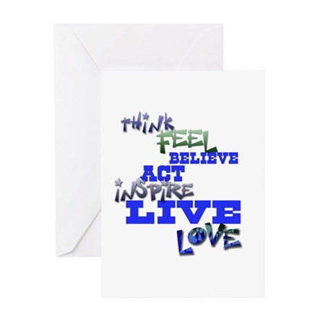 Think, Feel, Believe, Act, In Greeting Card