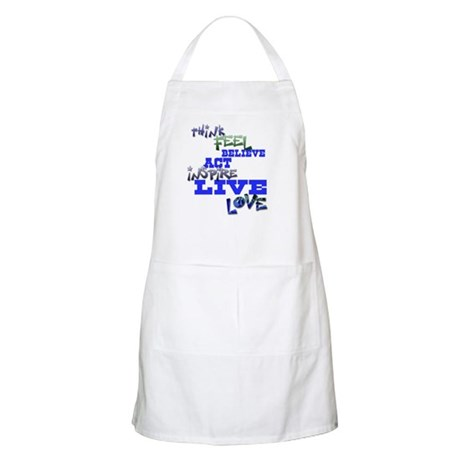 Think, Feel, Believe, Act, In BBQ Apron