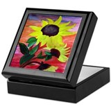 Bright Sunflowers Keepsake Box