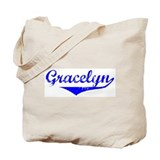 Gracelyn Vintage (Blue) Tote Bag