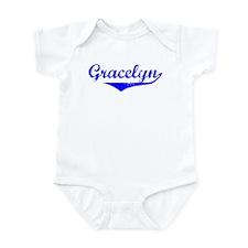 Gracelyn Vintage (Blue) Infant Bodysuit