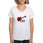 Guitar - Leo Women's V-Neck T-Shirt