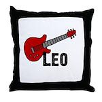 Guitar - Leo Throw Pillow