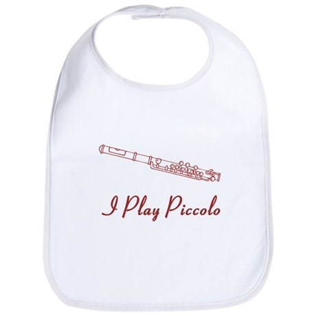 I Play Piccolo Bib