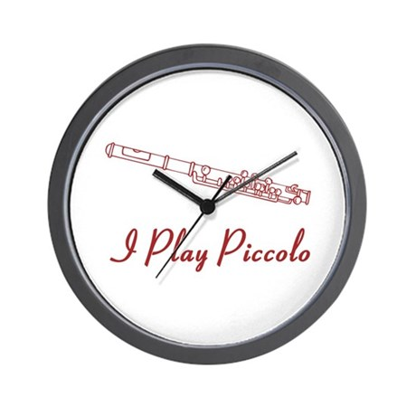 I Play Piccolo Wall Clock