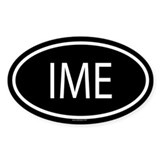IME Oval Decal