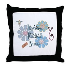 Funny Nurse license Throw Pillow