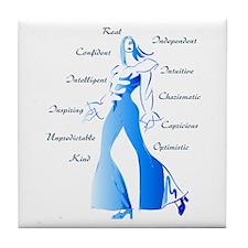 Essence of Woman Tile Coaster