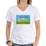 Think Spring Women's V-Neck T-Shirt