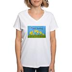 Think Spring Women's V-Neck T-Shirt