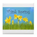 Think Spring Tile Coaster