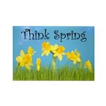 Think Spring Rectangle Magnet