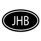 JHB Oval Decal