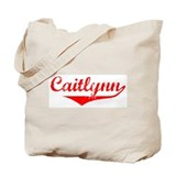 Caitlynn Vintage (Red) Tote Bag