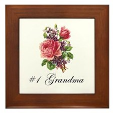 #1 Grandma Framed Tile