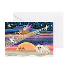 XmasStar/Pekingese (4W) Greeting Cards (Pk of 20)