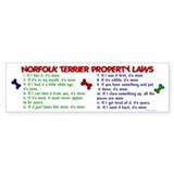 Norfolk Terrier Property Laws 2 Bumper Car Sticker