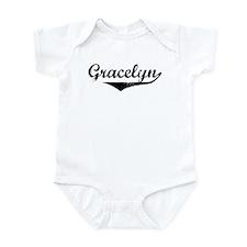 Gracelyn Vintage (Black) Infant Bodysuit