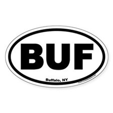 "Buffalo, NY ""BUF"" Oval Bumper Stickers"