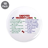 "Samoyed Property Laws 2 3.5"" Button (10 pack)"