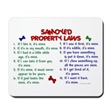 Samoyed Property Laws 2 Mousepad