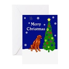 Irish Setter Christmas Greeting Cards (Pk of 10)