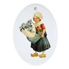 Little Dutch Girl Oval Ornament