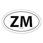 Zambia country bumper sticker -White (Oval)
