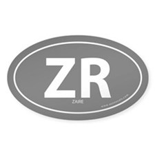 Zaire country bumper sticker -Black (Oval)