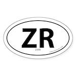 Zaire country bumper sticker -White (Oval)