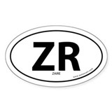 Zaire country bumper sticker -White (Oval)