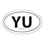 Yugoslavia country bumper sticker -White (Oval)