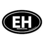 Western Sahara EH bumper sticker -Black (Oval)