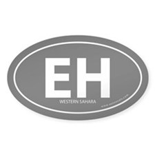 Western Sahara EH bumper sticker -Black (Oval)