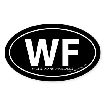 Wallis & Futuna Islands bumper sticker -Black Oval