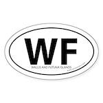 Wallis & Futuna Islands bumper sticker -White Oval