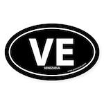 Venezuela country bumper sticker -Black (Oval)