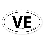 Venezuela country bumper sticker -White (Oval)