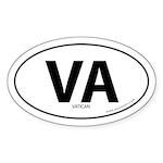Vatican City State bumper sticker -White (Oval)