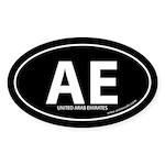 United Arab Emirates bumper sticker -Black (Oval)