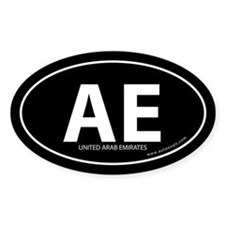 United Arab Emirates bumper sticker -Black (Oval)