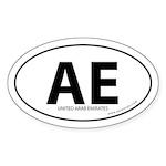 United Arab Emirates bumper sticker -White (Oval)
