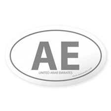 United Arab Emirates bumper sticker -White (Oval)