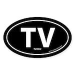 Tuvalu country bumper sticker -Black (Oval)