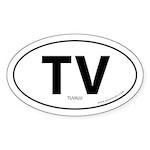 Tuvalu country bumper sticker -White (Oval)